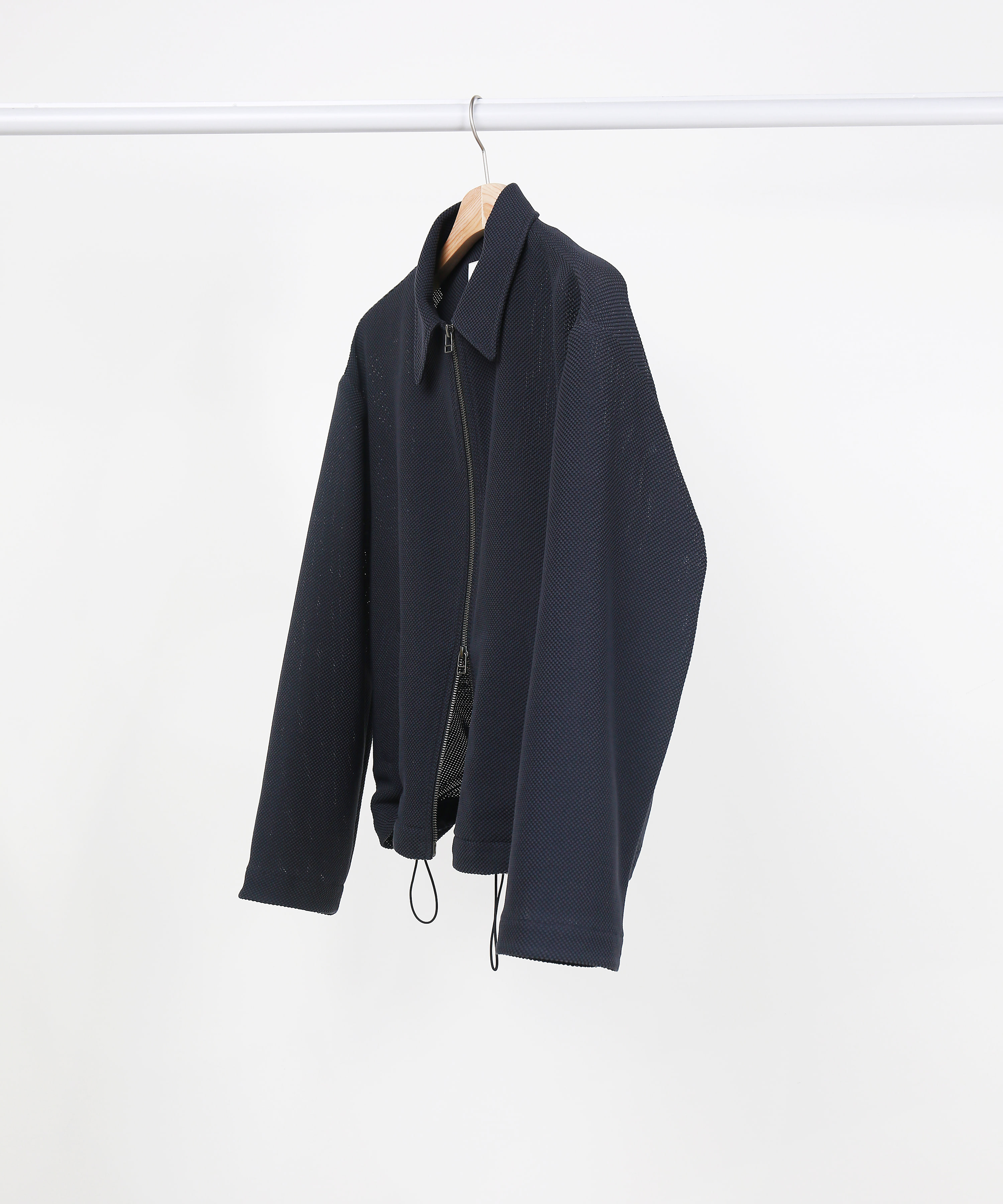 [DISTANCE] LINEN TWEED TWO-WAY ZIP UP BLOUSON