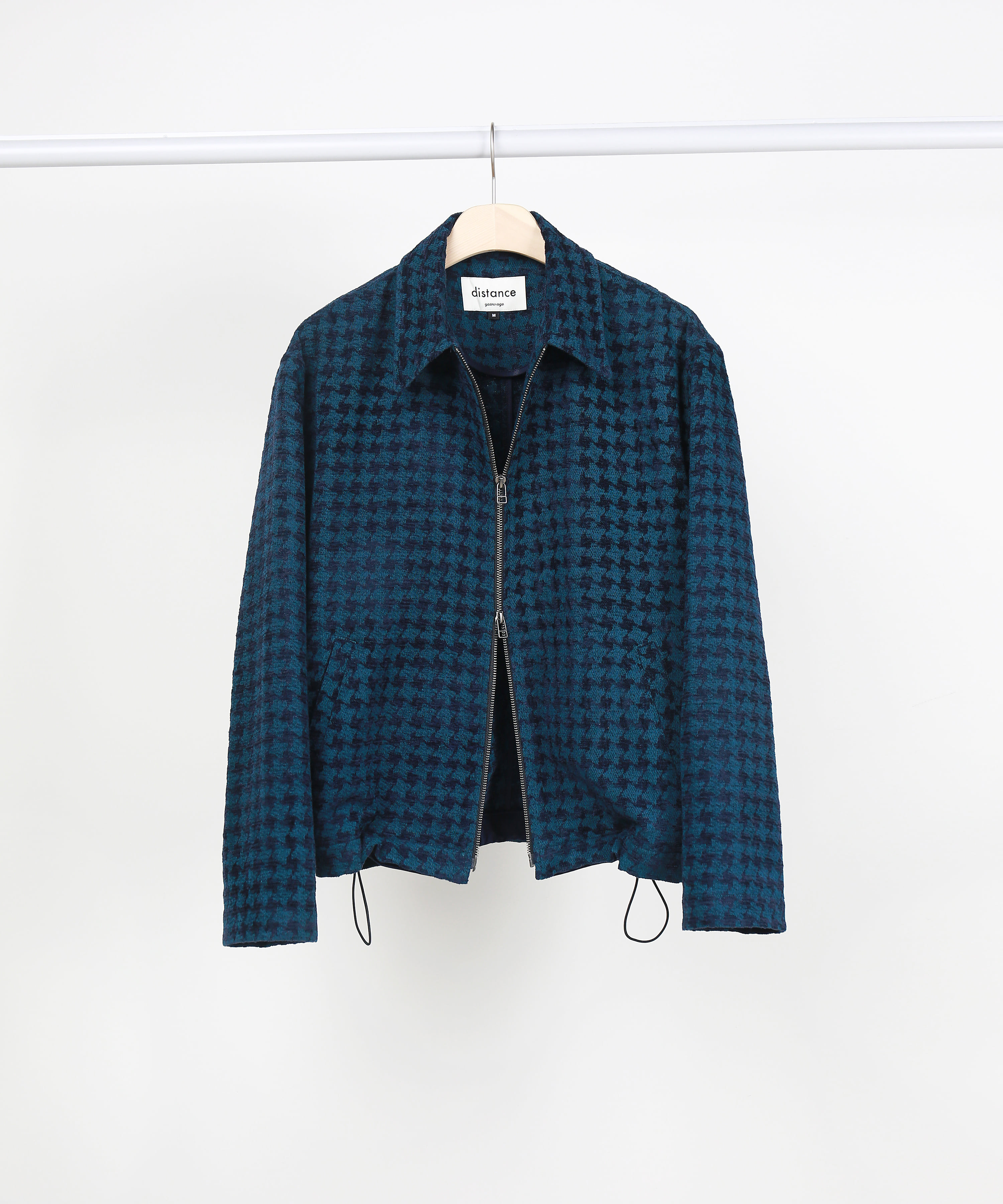 [DISTANCE] WINDMILL CHECK JACQUARD TWO-WAY ZIP UP BLOUSON