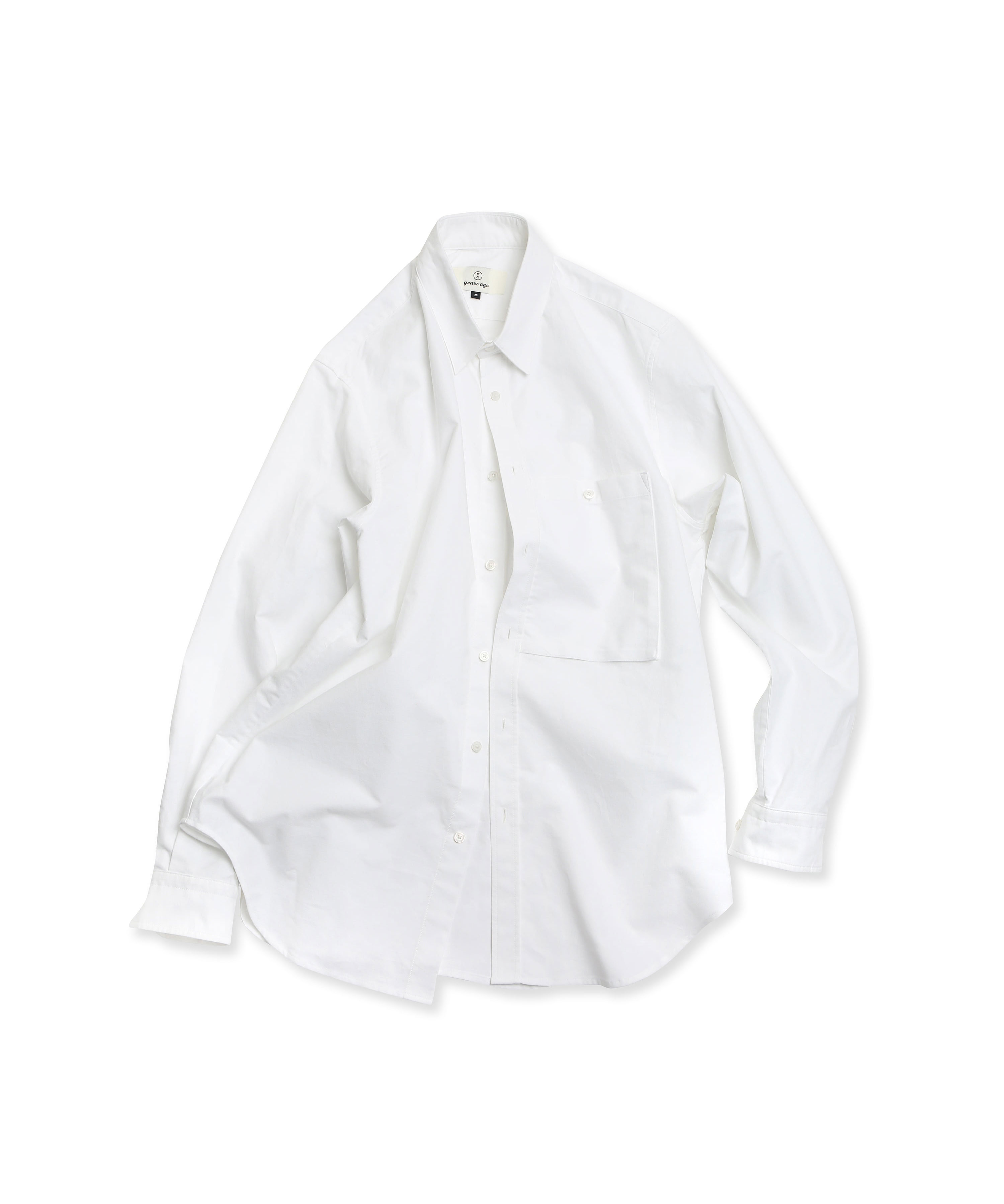 WHITE BIG POCKET OXFORD SHIRTS