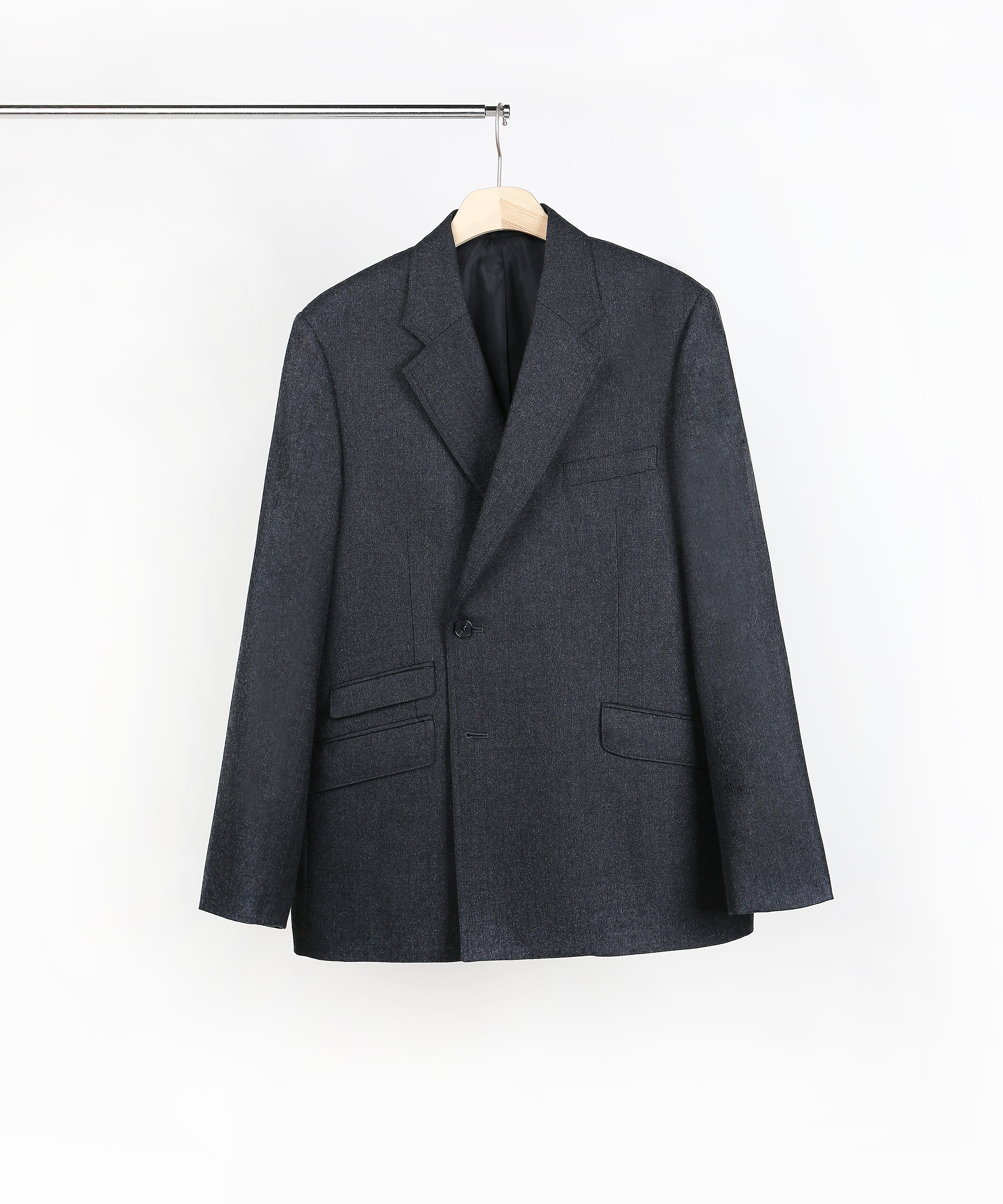 CHARCOAL DOUBLE BREASTED BLAZER 01