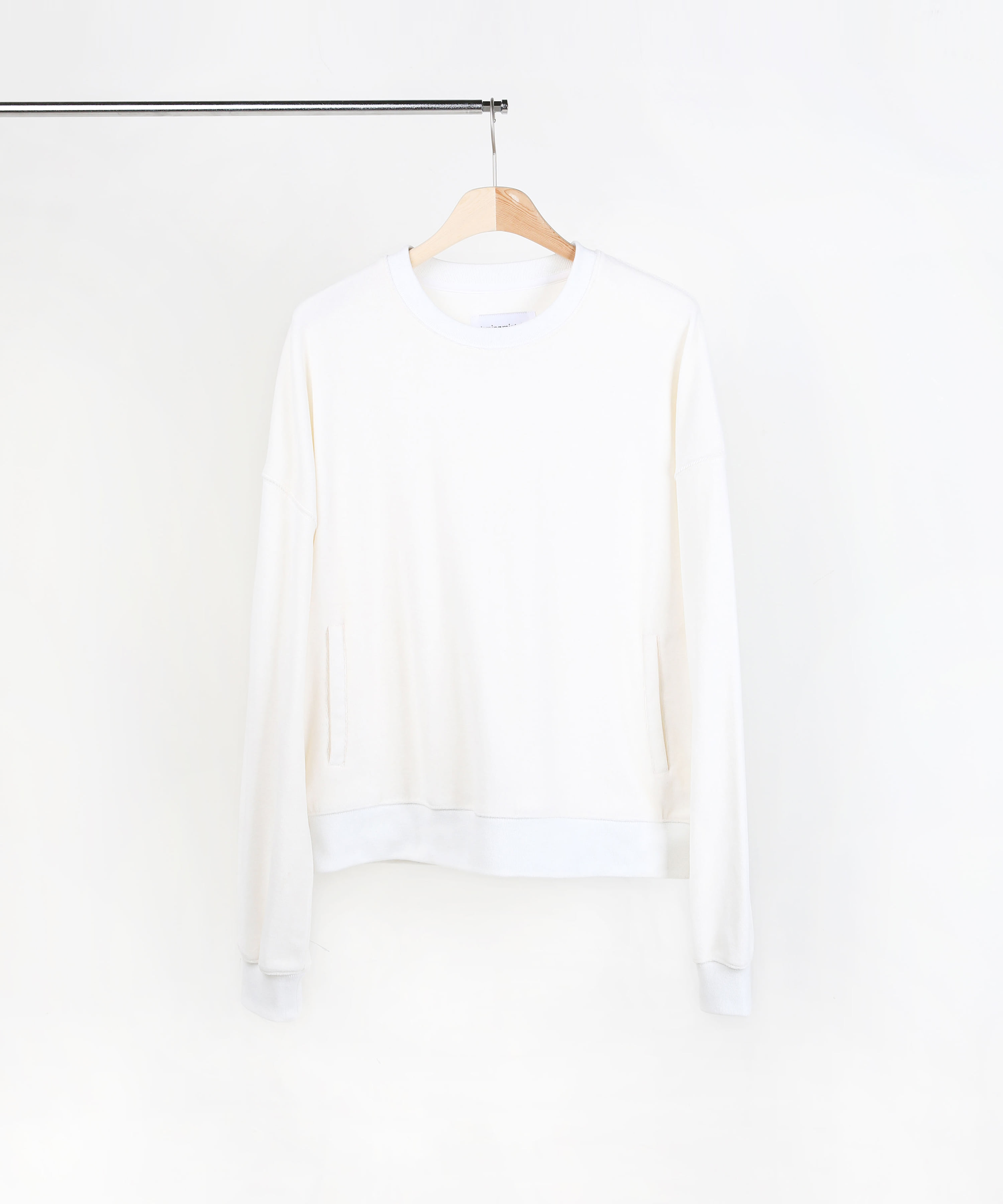 VELVET SWEAT SHIRTS IVORY