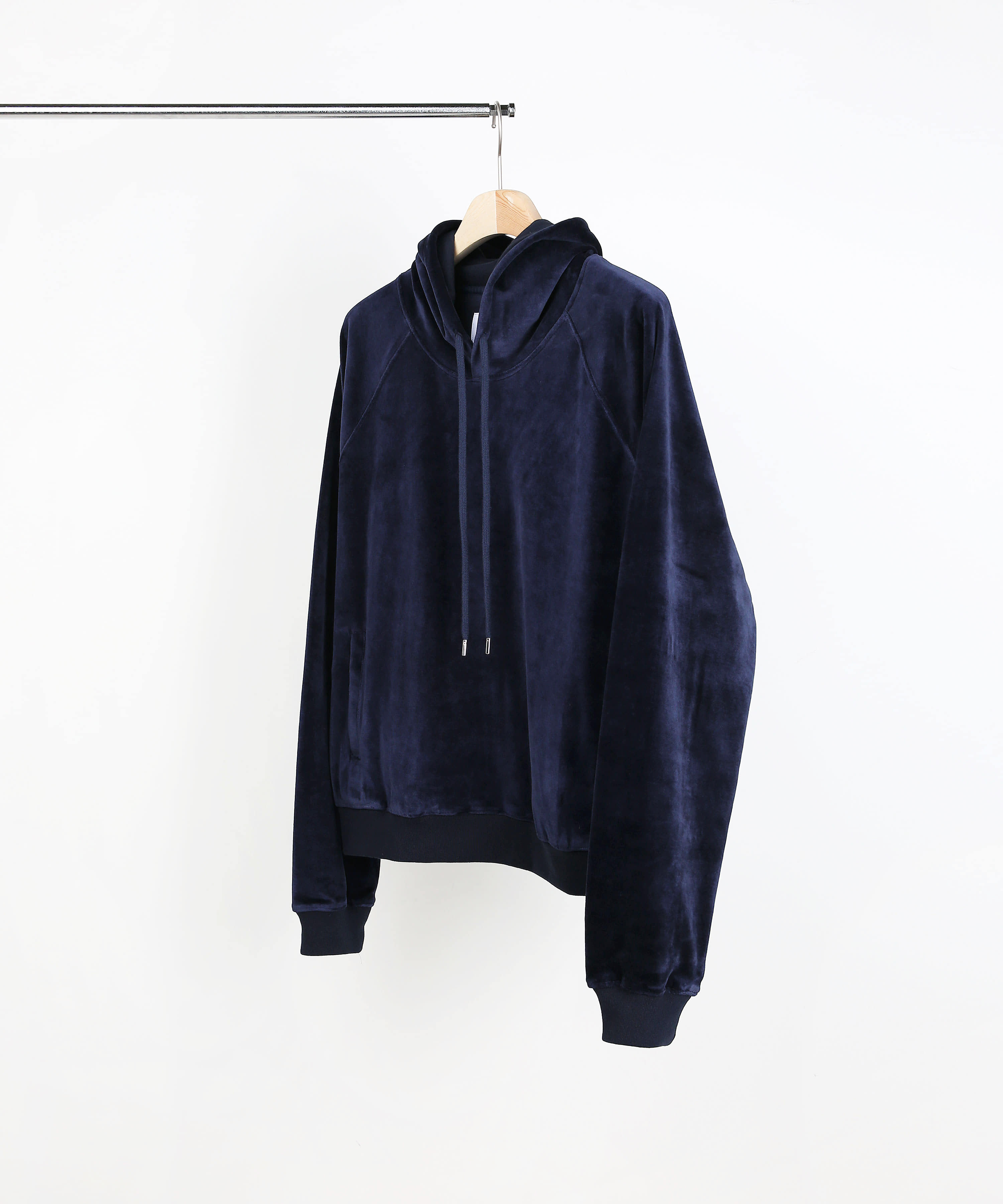 VELVET HOOD SWEAT SHIRTS DARK NAVY