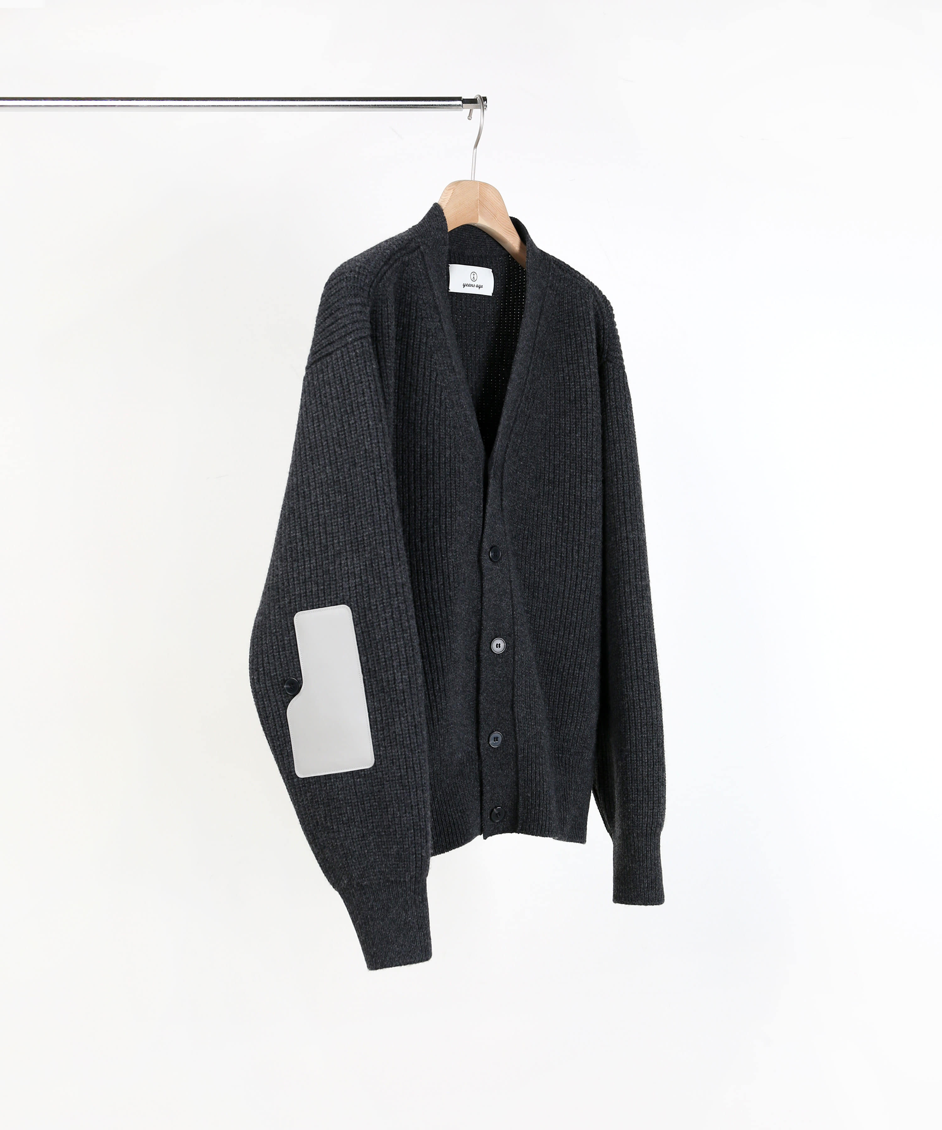 CHARCAOL ROVER WOOL CARDIGAN 01-2