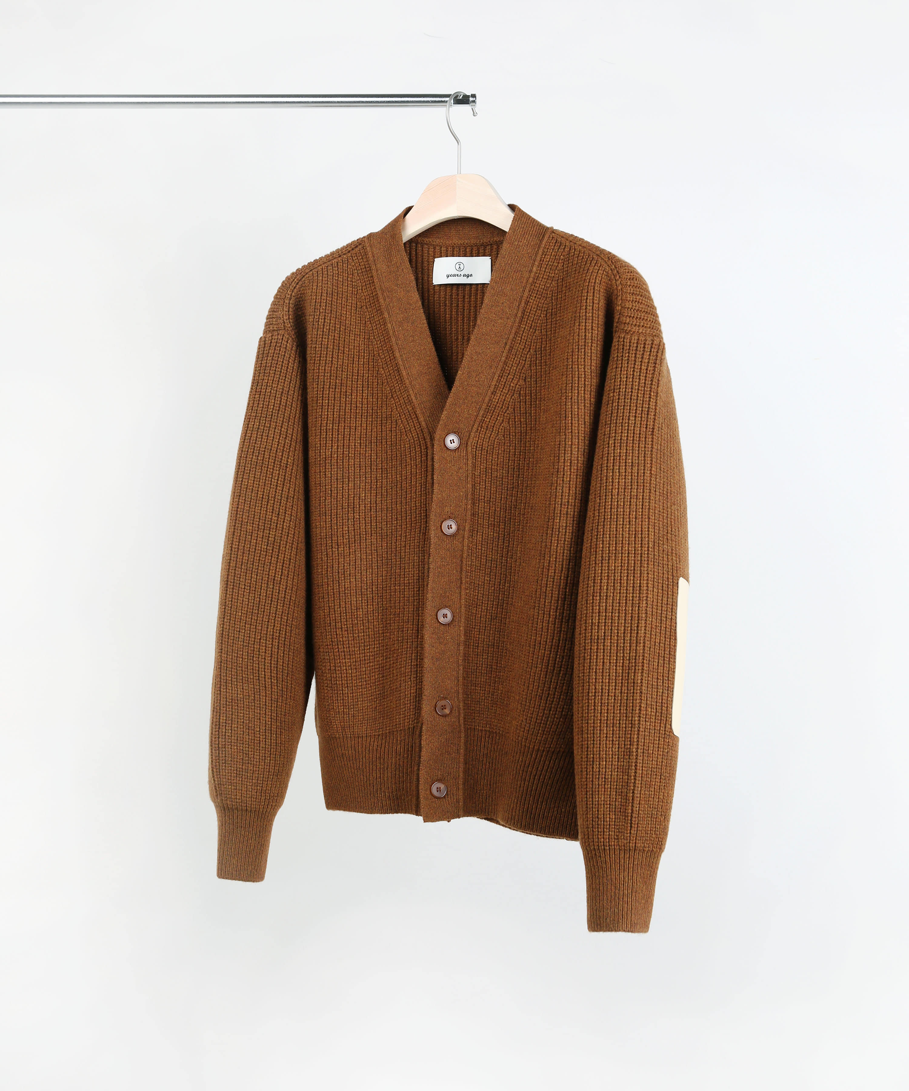 SIENNA MELANGE BROWN ROVER WOOL CARDIGAN 01-2