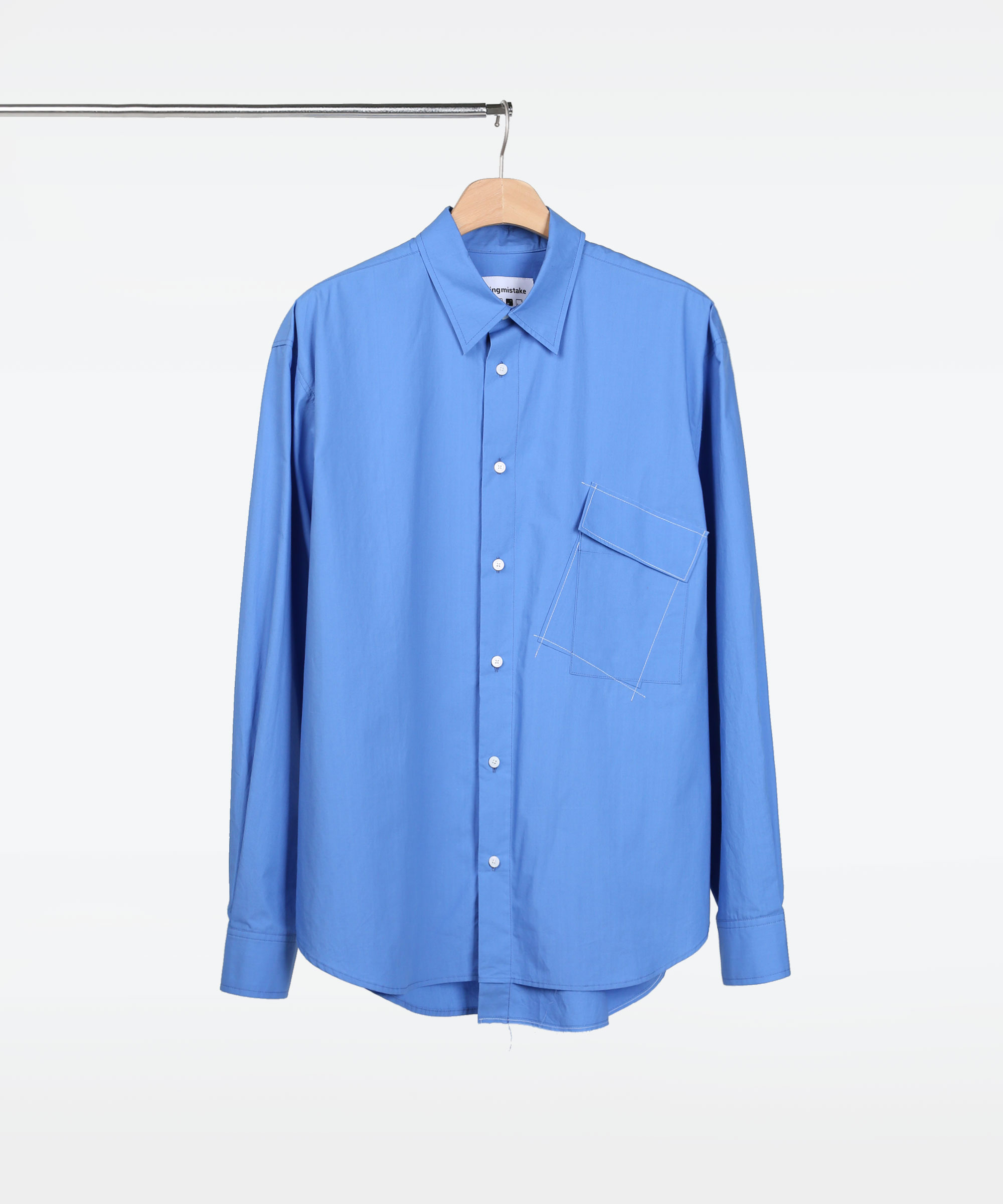 ASYMMETRIC POCKET SHIRTS BLUE