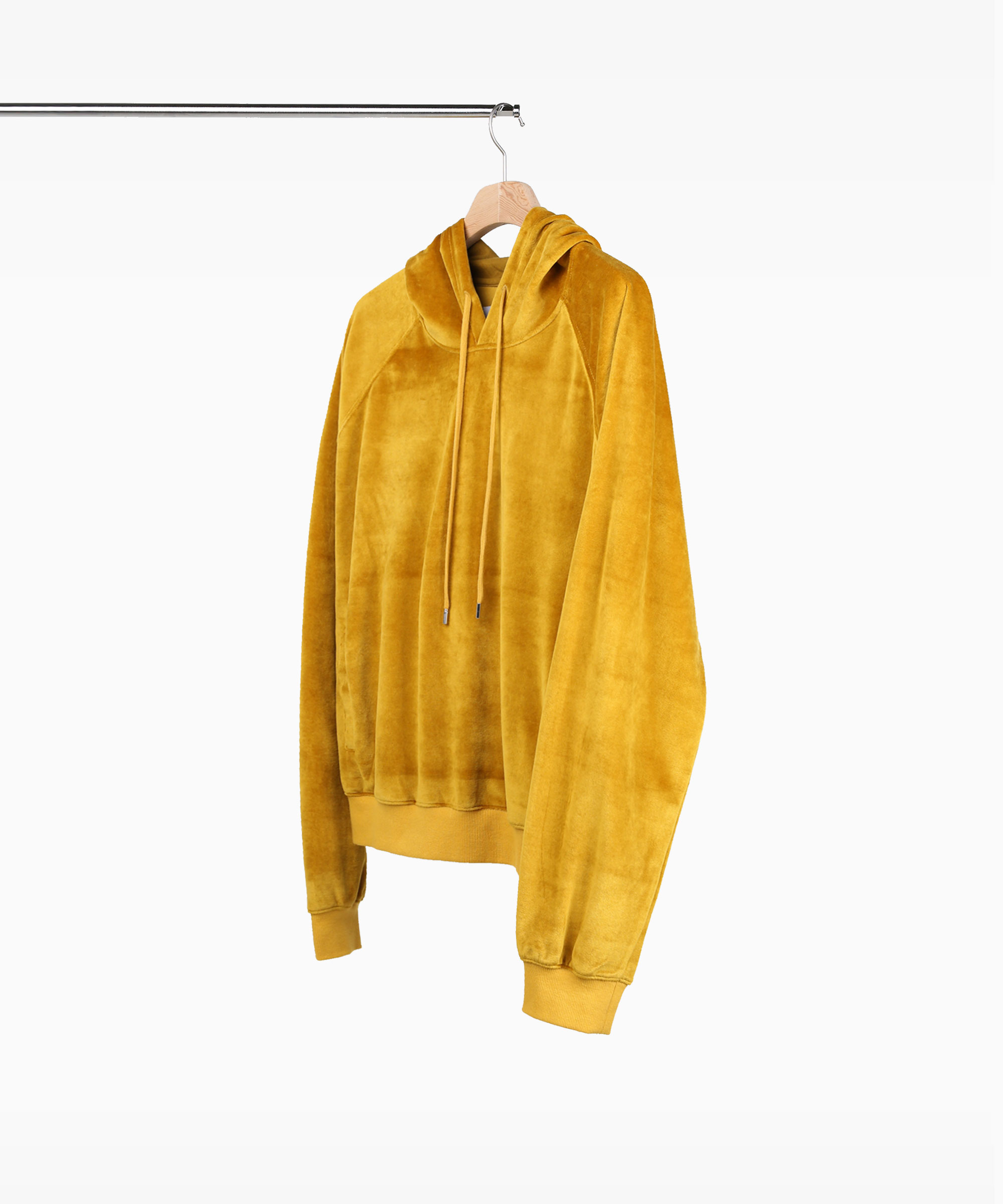 VELVET HOOD SWEAT SHIRTS GOLD