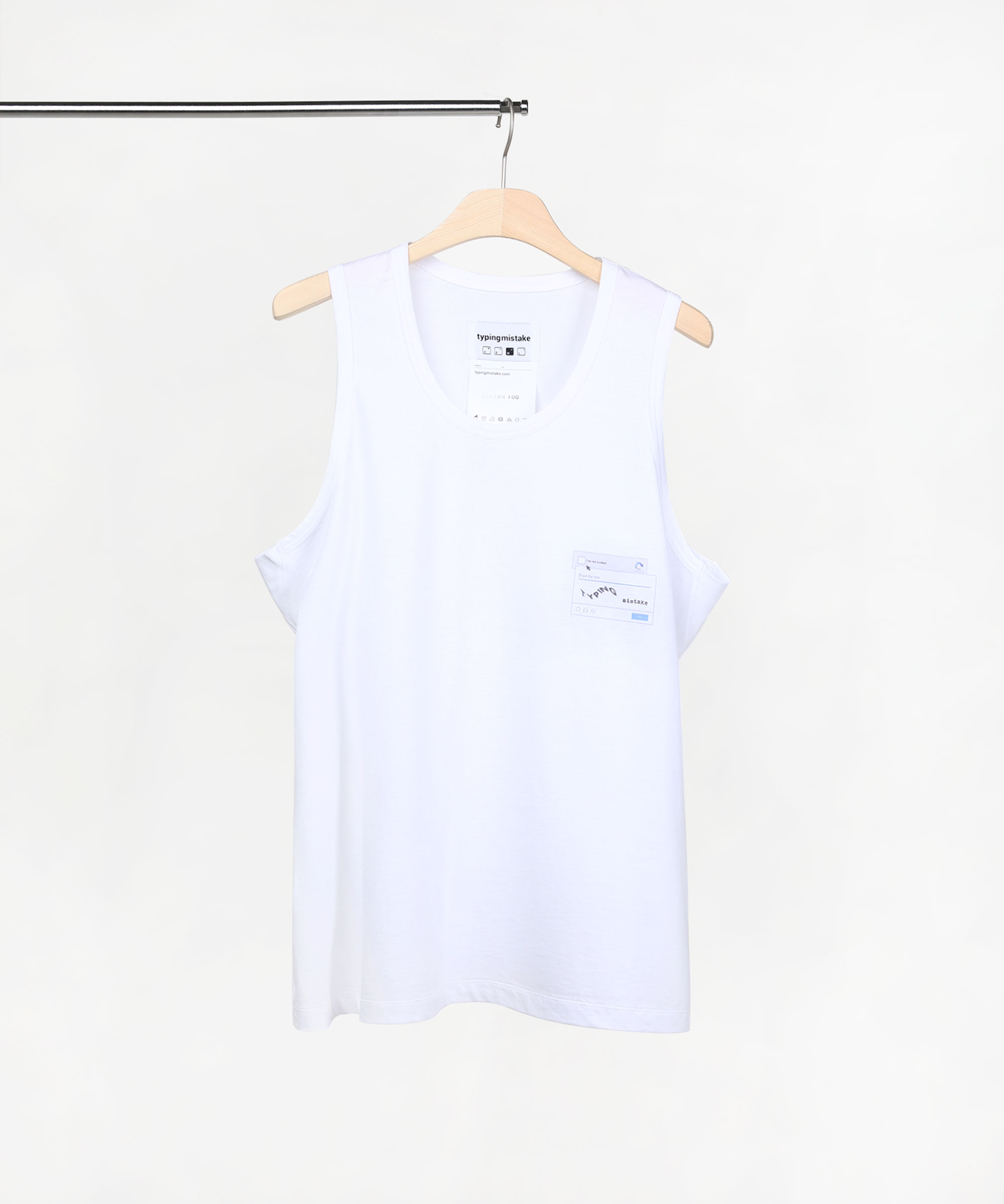 LOG IN ERROR SLEEVELESS T SHIRTS WHITE