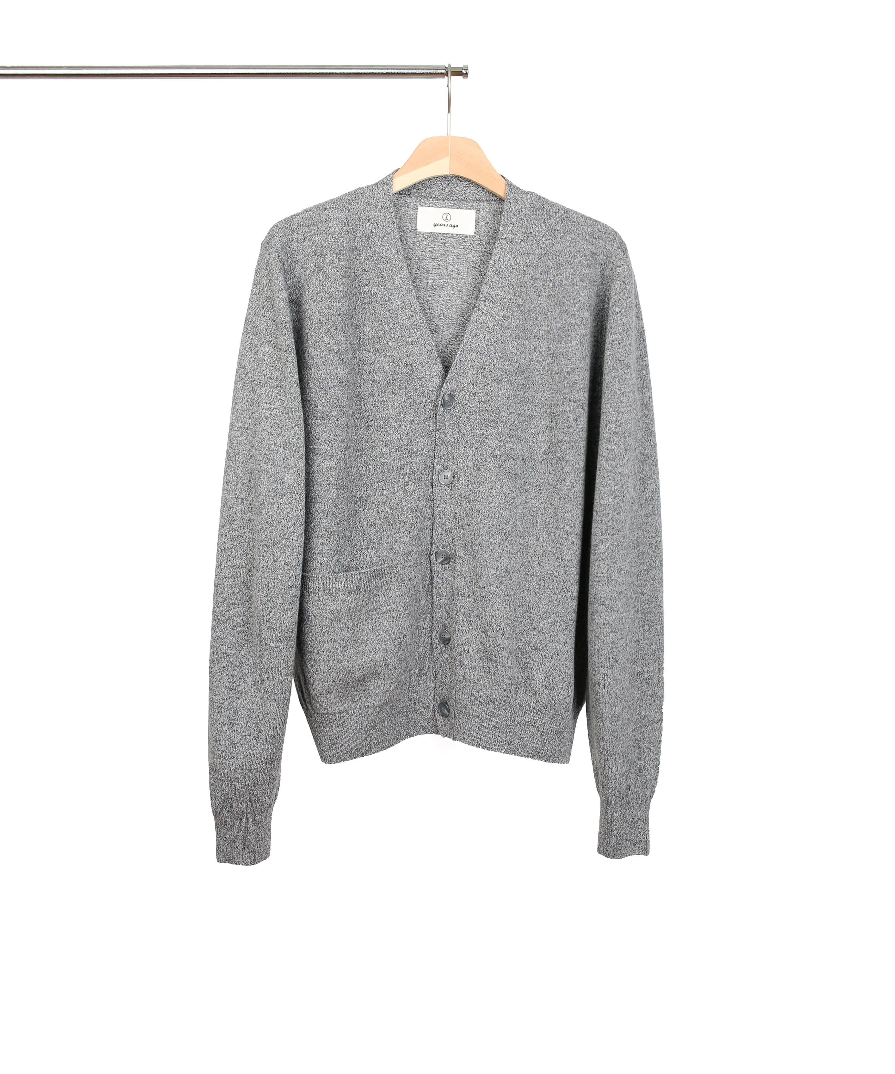TWEED GREY ROVER WOOL CARDIGAN 02