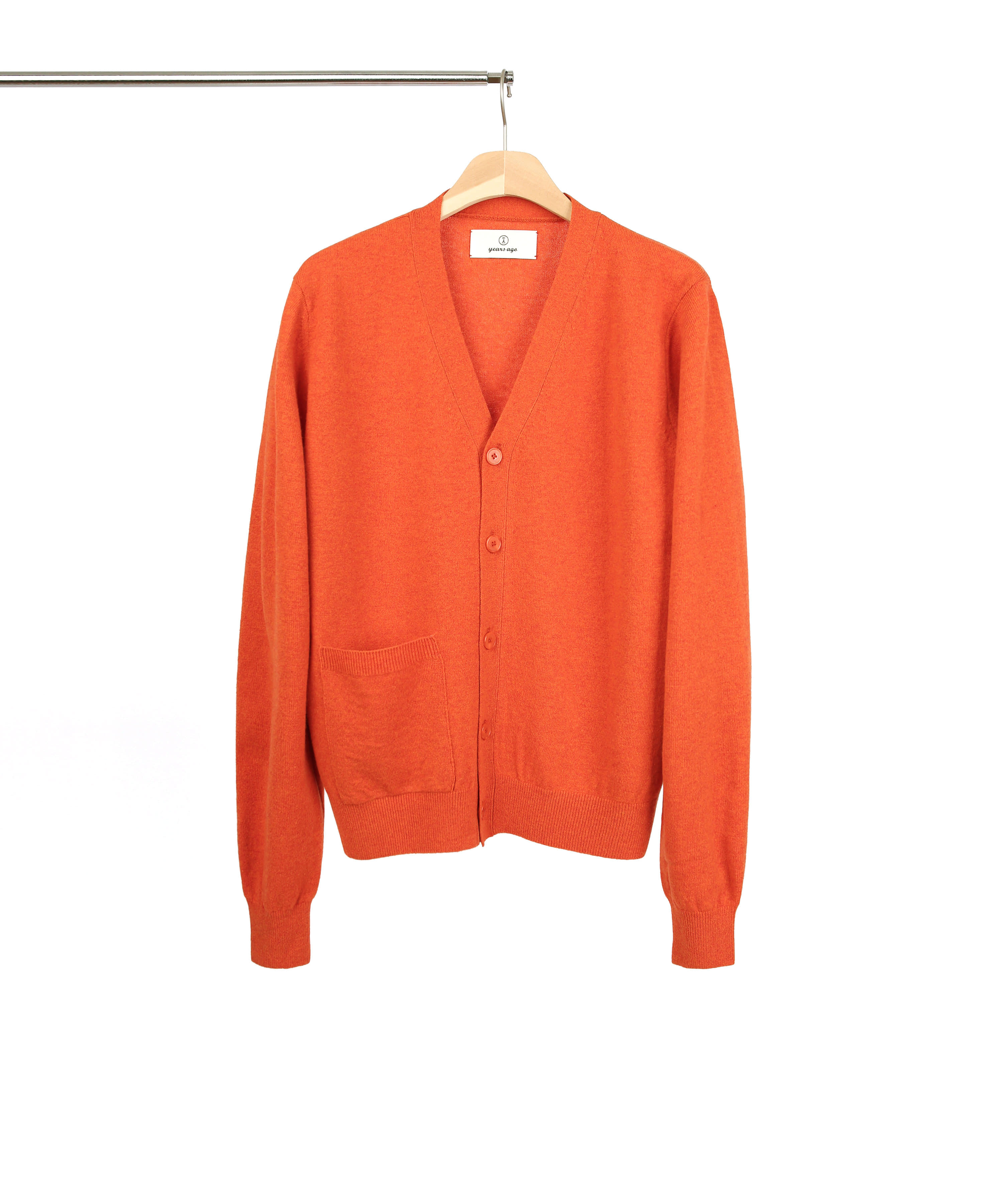 [RESTOCK] MELANGE ORANGE ROVER WOOL CARDIGAN 02 (4월 29일 순차발송)