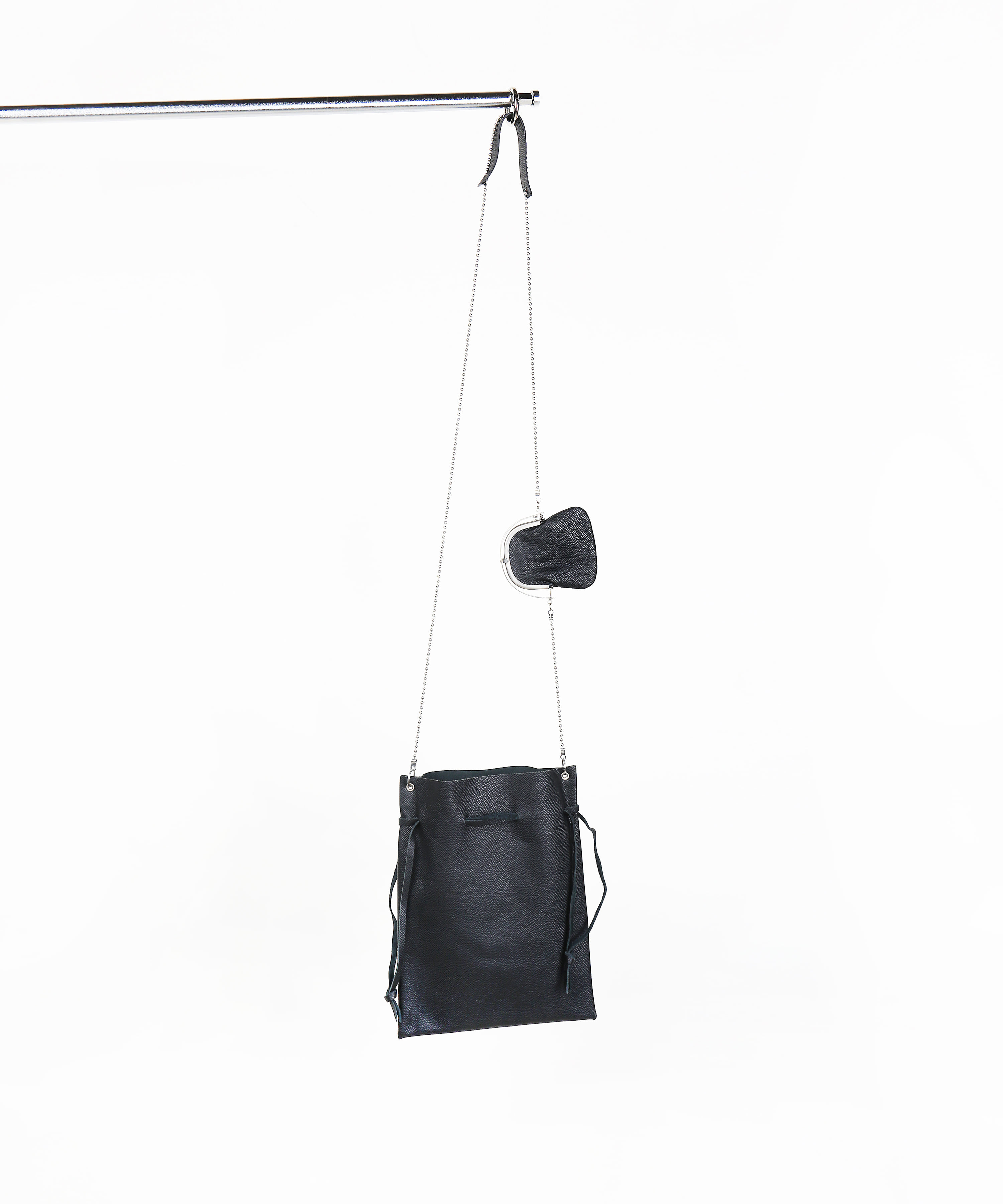 ODD - FRAME PURSE WITH POUCH BLACK