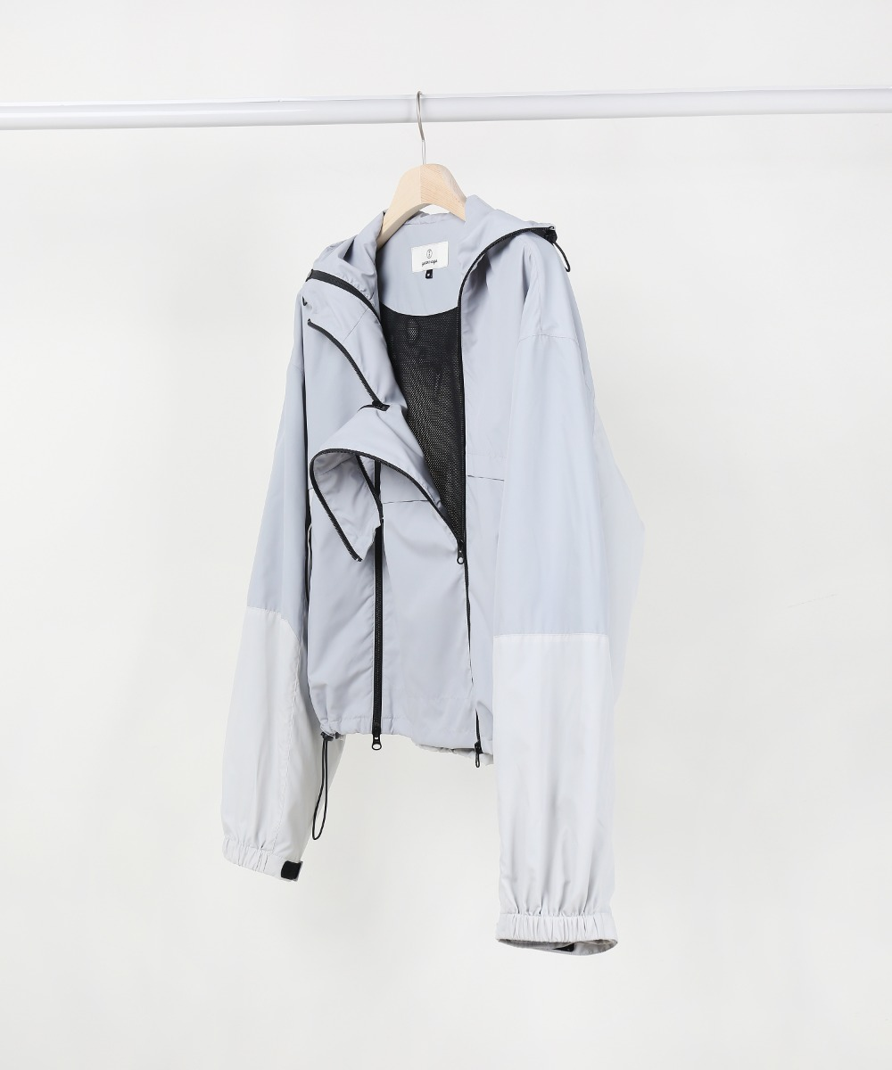 GREY MIXED COLOR 3 ZIP WINDBREAKER JUMPER.01