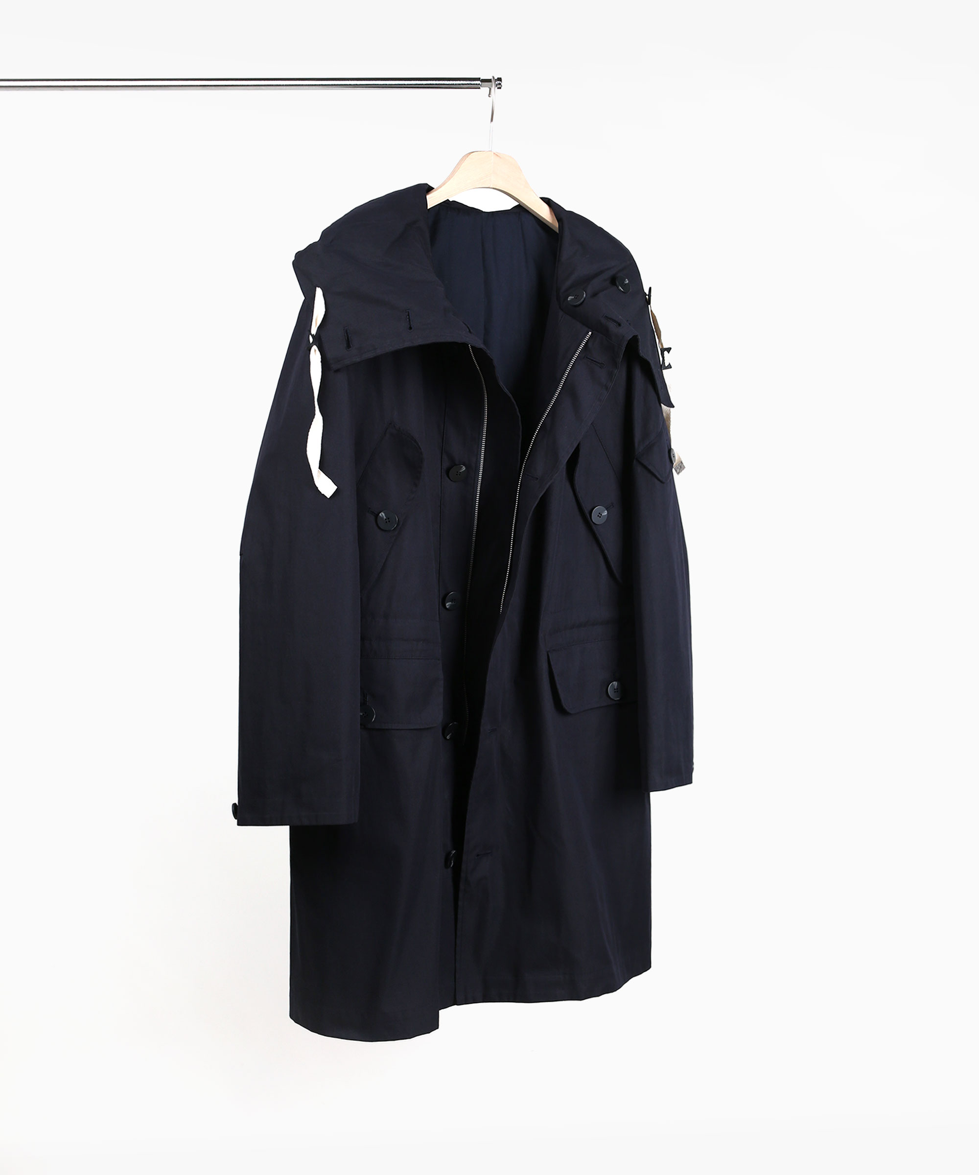 DARK NAVY OVERSIZED HOOD PARKA