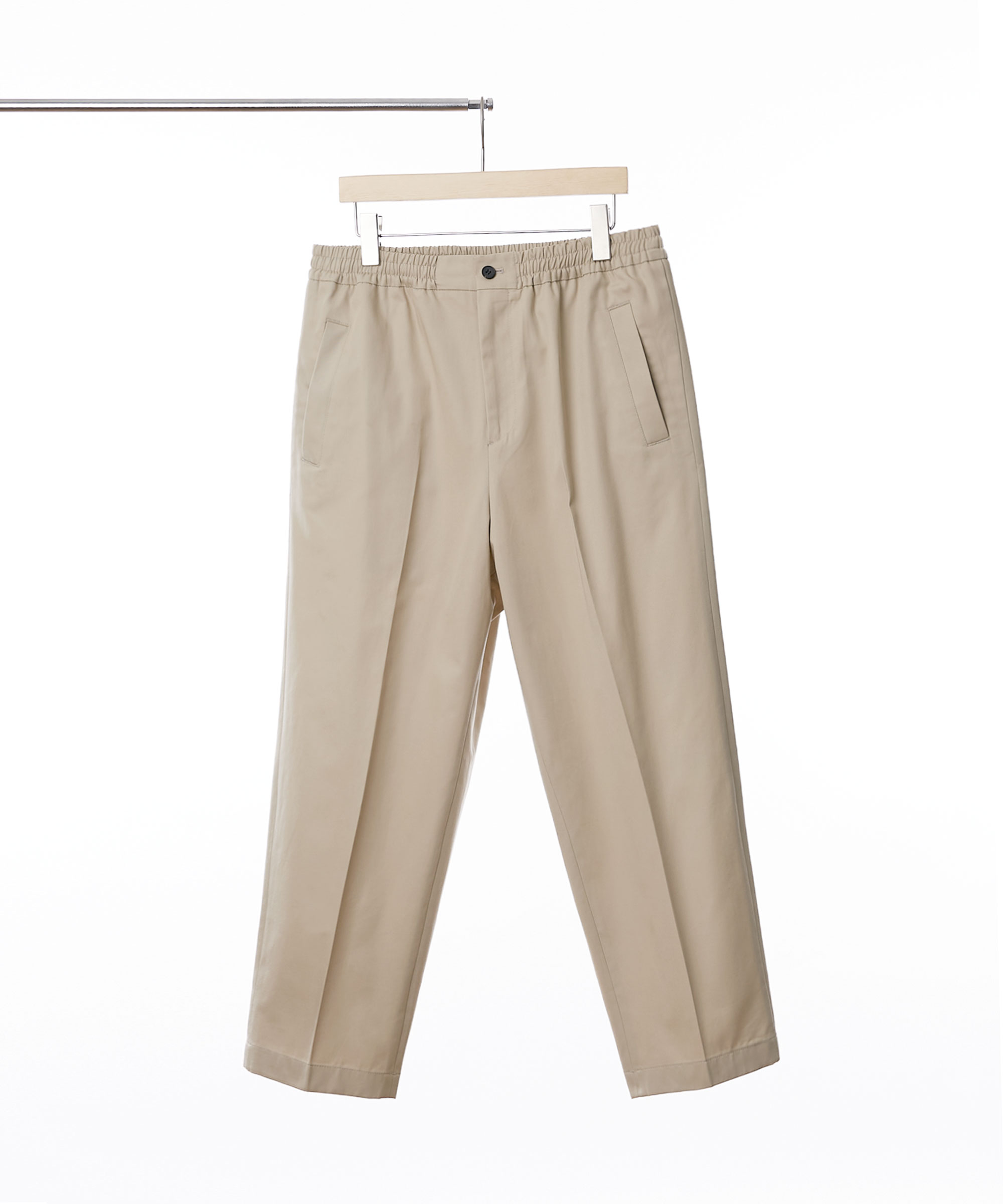 BEIGE EASY TAPERED CHINO PANTS 01