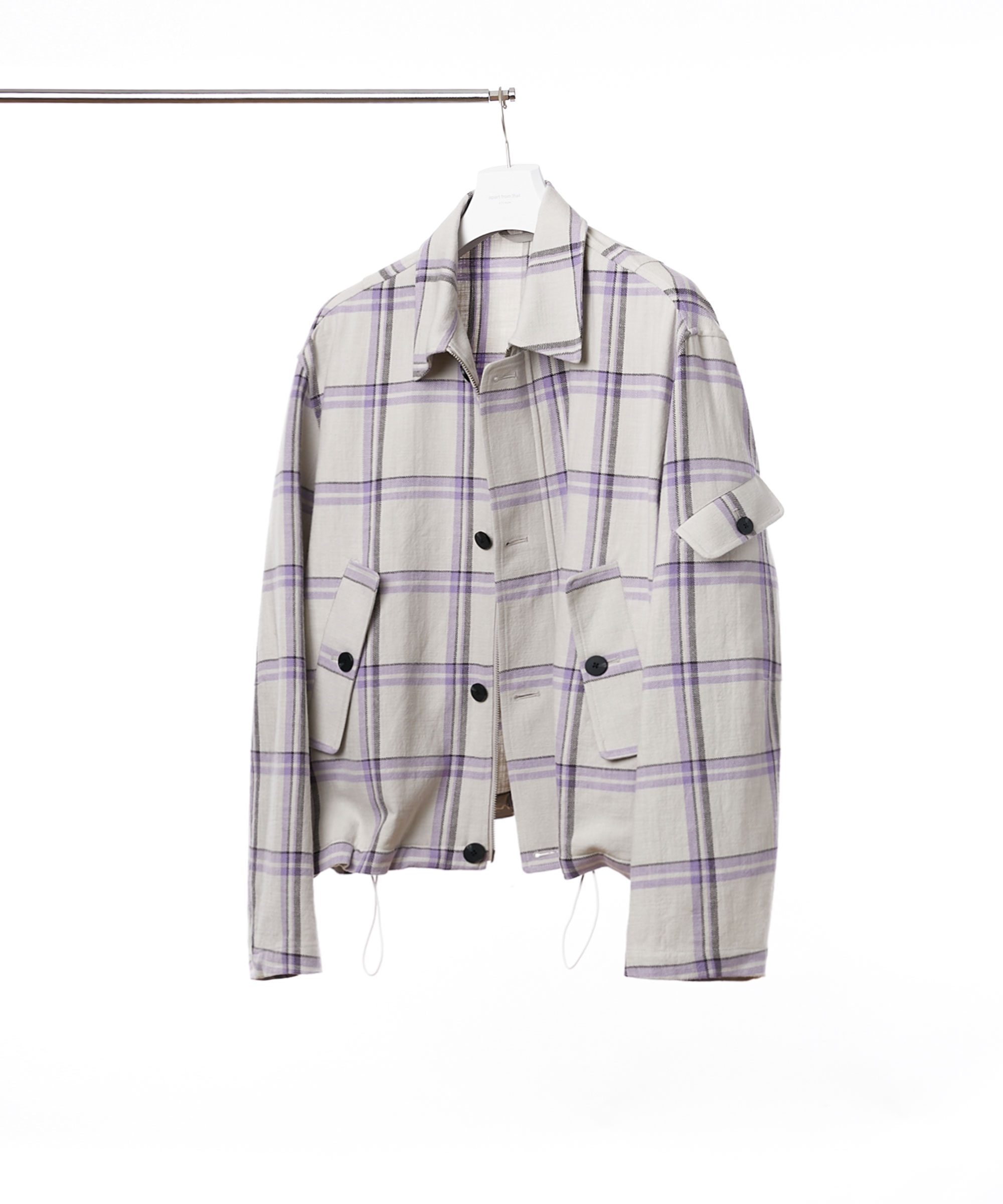 GREY PURPLE CHECK ORGANIC COTTON 3.P.C JUMPER 02